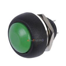 5Pcs 12mm Waterproof Momentary ON/OFF Push Button Mini Round Switch Green