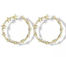 Big Hoop Earrings Round Gold Stars Drop Dangle Geometric Party Medium Circle UK