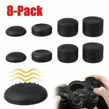 8pcs Black Silicone Thumb Stick Grip Cover Caps For PS4 & Xbox One Controler USA