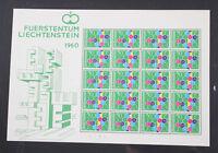 Europaunion Cept postfrische Kleinbogen Sammlung mit Liechtenstein 1960 etc.