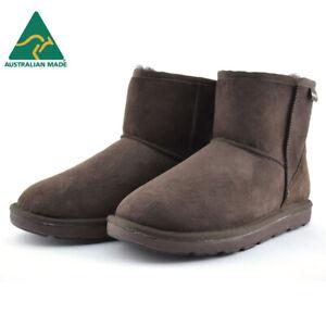 Mubo UGG Classic Mini Sheepskin Boots - Chocolate (Australian Made)