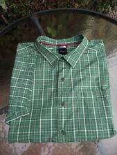 THE NORTH FACE MEN'S MULTI COLOURED CHECKED SHORT SLEEVE SHIRT SIZE 2XL