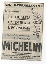 Pubblicità epoca MICHELIN AUTO PNEUMATICI advertising werbung publicitè reklame