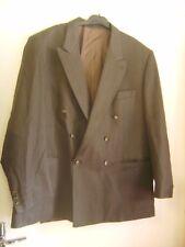 Beau blazer/veste habillée vintage Pierre Cardin marron rayée T 54