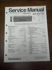 Technics Service Manual for the SA-AX720 AV Control Receiver~Repair~Original