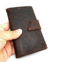 Genuine Leather Case Fit Samsung Galaxy Note 3 2 book wallet handmade cards new