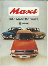 AUSTIN MAXI 1500, 1750 AND HL SALES BROCHURE JANUARY 1975
