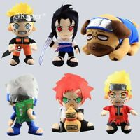 New Naruto Gaara Uchiha Sasuke Hatake Kakashi Pakkun Plush Figure 12'' Soft Toy