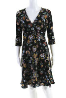 Leota Womens Floral Enchanting Felicity Dress Black Size Small 11471904