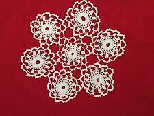 """White 9.5"""" Round Starburst Crochet Doilie"""