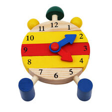 Mini Puzzle Clock Montessori Wooden Puzzles Toys Oyuncak For Children Digital
