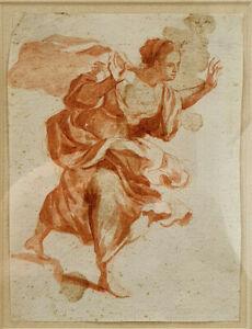 Unknown Artist, ADORING FEMALE, SANGUINE, 34x30cm, 17-18th century