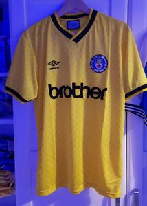 Manchester City 1989 Yellow Away Third shirt