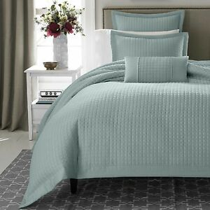 REAL SIMPLE Retreat European Sham Quilted Azure Blue