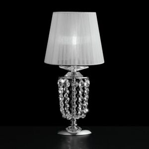 Bedside Lamp Lumetto Crystal Clear Modern Design Chrome