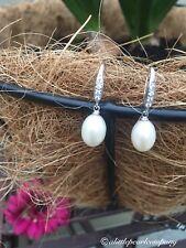 Classic Pearl Earrings/details on hook/925 Sterling Silver
