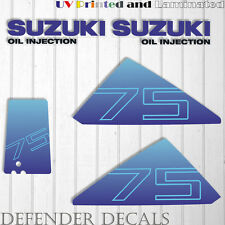 Suzuki 75 hp DT75 outboard engine decal sticker set kit reproduction 75HP