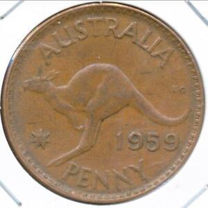 Australia, 1959(m) One Penny, 1d, Elizabeth II - Very Fine