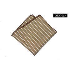 Men Classic Striped Cotton Pocket Square Wedding Party Business Handkerchief New