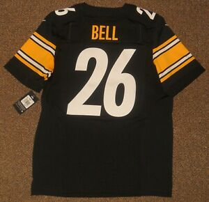 Le'Veon Bell Black Pittsburgh Steelers Authentic Nike Elite Jersey sz 44 w/ tags