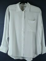 NEW Everlane Silk Relaxed Shirt in Light blue - size 6   #T1087