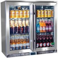 New Rhino Glass 2 Door Efficient Lowest Energy Alfresco 208L Bar Fridge with LOW
