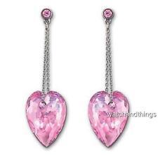 New Swarovski Nectar Rose Pierced Crystal Drop Earrings 1119282 $100