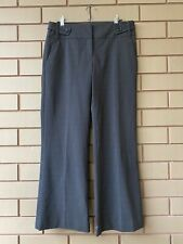 Cue Classic Brown Grey Pattern Corporate Workwear Trouser Pants Size 10