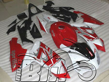CARENE ABS APRILIA RS 125 2007 2008 2009 2010 DESIGN WHITE PEARL & RED NUOVE