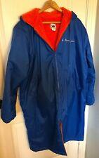 Unisex Size M Swim Swimmers Long Hooded Parka Jacket Blue/Orange Made in USA