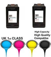 2 REMANUFATURED hp301 Black High Capacity& Quality cartridge for HP deskjet2540