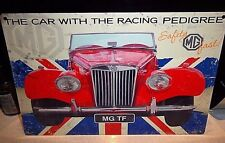 "MG TF MIDGET RED SPORTS CAR 1950s,COLLECTABLE 12""X 8"" RETRO METAL SIGN 30x20 cm"