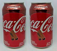 (2) NEW LIMITED EDITION HOLIDAY CINNAMON COCA-COLA Cokes Soda 12oz (355ml)