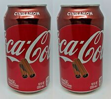 (2) NEW LIMITED EDITION HOLIDAY CINNAMON COCA-COLA Cokes Soda 12oz (355ml)