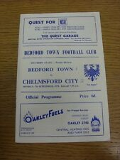 07/09/1970 Bedford Town v Chelmsford City  (Score Noted on Cover). Thanks for vi