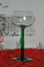 Gorgeous Green Stem Goblet Hock Style Wine Glass 16.5cm