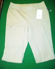 Faded Glory Women, parker pant, Khaki, Bi-stretch, size 4 slim ankle length NWT