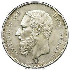 5 francs 1873 Léopold II Belgique SUP - Argent
