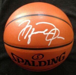 *SIGNED* MICHAEL JORDAN Spalding BASKETBALL w/ COA *White Ink AUTOGRAPH