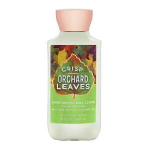 Bath Body Works Crisp Orchard Leaves 8.0 oz 24 Hr Moisture Body Lotion Brand New