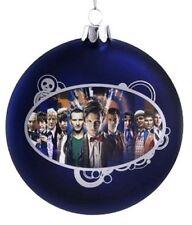 "Doctor Who - Disc Shape 4"" Glass Xmas Ornament NEW Christmas Tree Decoration"