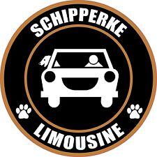 "Limousine Schipperke 5"" Dog Transport Sticker"