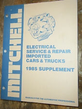1985 Mitchell Electrical Service Manual Alfa Romeo Bmw Mercedes Benz Porsche