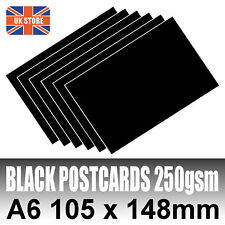 50 x A6 Black Blank Competition Entry Postcards 250gsm
