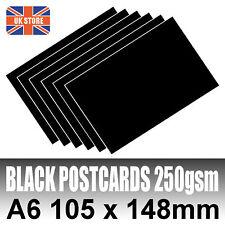 50 x A6 Black Blank Postcards 250gsm - 105 x 148mm - No Print