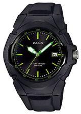 Casio 10 Year Battery Watch, 100 Meter W/R, Date, Black Resin, LX610-1AV