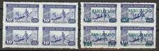 Spain 1936-39 Civil war Beneficia soldier with & without overpr blocks 4 MNH