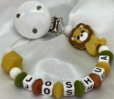 🦁 Personalised 🦁 LION 🦁 Dummy Clip Chain 🦁 SILICONE 🦁 Max 7 Letters 🦁