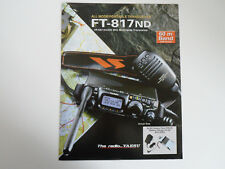 YAESU FT-817ND (authentique brochure seulement)... radio _ Trader _ Irlande.