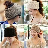US Fashion Women Winter Knitted Ear Warmer Headband Crochet Acrylic Hat Hairband